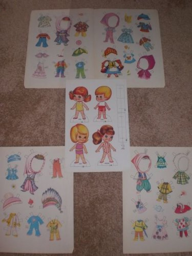 VINTAGE TURKISH BOY & GIRL CHIBI COSTUME PARTY COSPLAY PAPER DOLLS LOT NEW