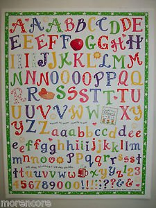 NEW COLORBOK SCHOOL TEACHER THEME LETTER STICKERS PAGE