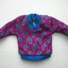 GENUINE VINTAGE BARBIE KEN purple  SWEATER CLOTHES W/ TAGS