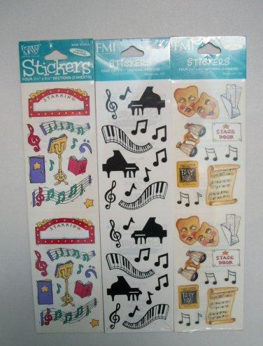 NEW FRANCES MEYER MUSIC THEATRE STAGE PIANO NOTES STICKERS LOT