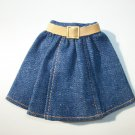 VINTAGE ANIME TAKARA DOLL BLUE DENIM SKIRT CLOTHES W/ TAGS
