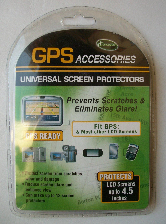 "NEW NIP GPS ACCESSORIES I CONCEPTS UNIVERSAL SCREEN PROTECTOR 4.5 "" ANTI GLARE"