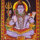 hindu god shiva meditation sequin cotton wall hanging tapestry peace yoga decor indian art