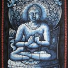 siddhartha buddha batik wall hanging indian ethnic buddhist cotton tapestry yoga decor art