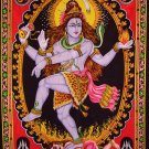 hindu god shiva tandav dance nataraja nataraj sequin cotton wall hanging tapestry art india