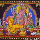 hindu elephant god batik Ganesh ganesha sequin coton wall hanging tapestry India