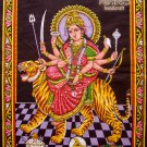 durga parvati uma sequin wall hanging tapestry ethnic batik painting art