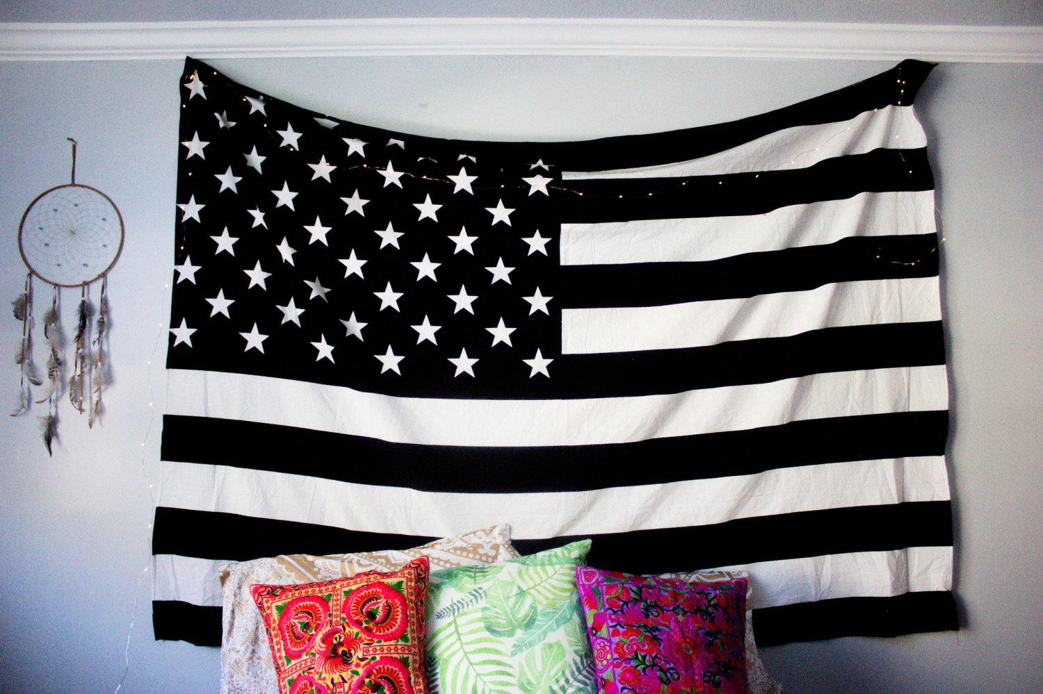 "American Pride USA Flag Tapestry Bohemian hippie Wall Hanging twin dorm bedspread 55"" x 85"""
