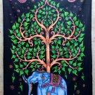 "Elephant under Tree of life wall hanging Bohemian hippie Tapestry decor twin beach 55"" x 85"""