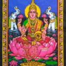 hindu goddess laxmi lakshmi sequin wall hanging tapestry ethnic decor art