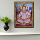 hindu god shiva meditation sequin cotton wall hanging tapestry art india