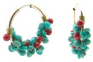 green tophus ring earring