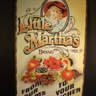 Little Martha Brand Farm Tin Sign Vintage Antique Style Distressed Finish Reproduction