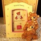 "Photo Frame Teddy Bears Friends Girlfriends Forever Gund 2"" x 3"" Yellow Pink"