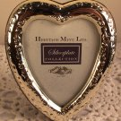 Silverplate Heart Shaped Photo Frame Non-Tarnish Silver Heritage 3""