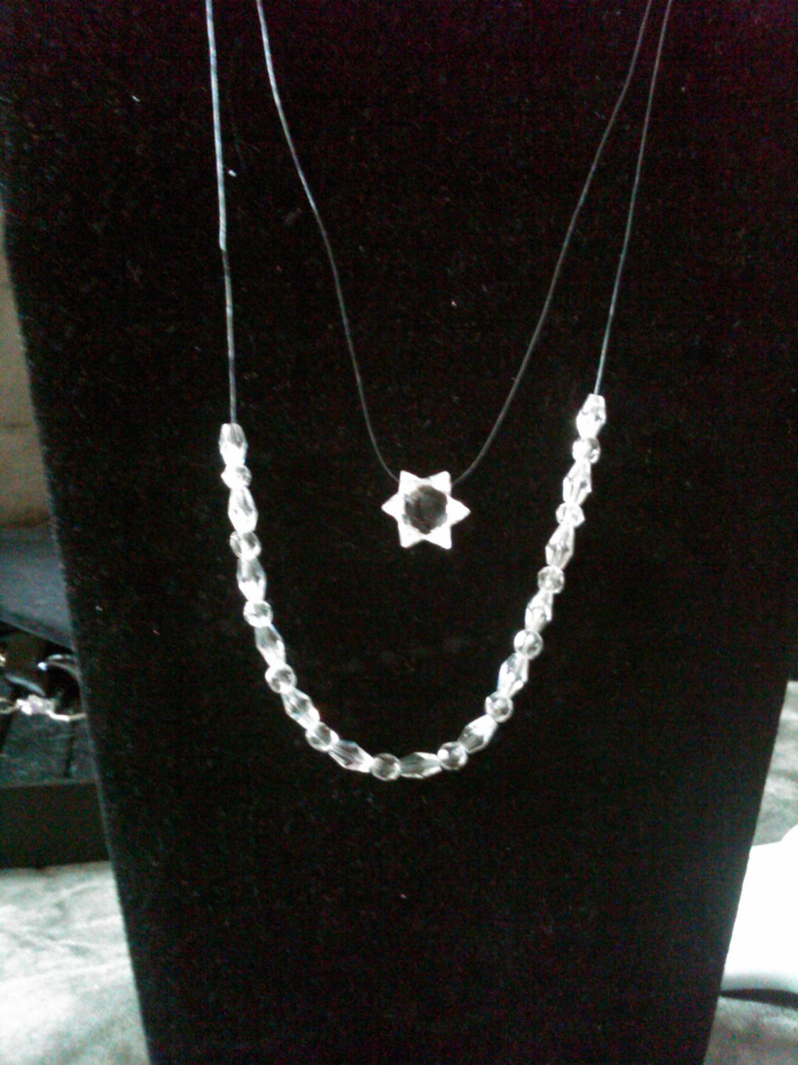 Star Of David double necklace