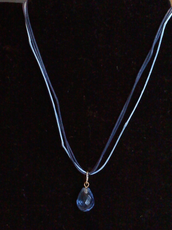 Blue tear drop crystal
