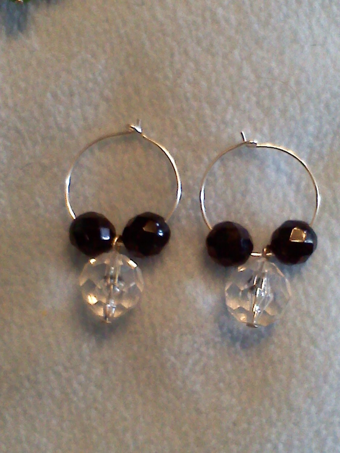 Mickey mouse crystal dangles