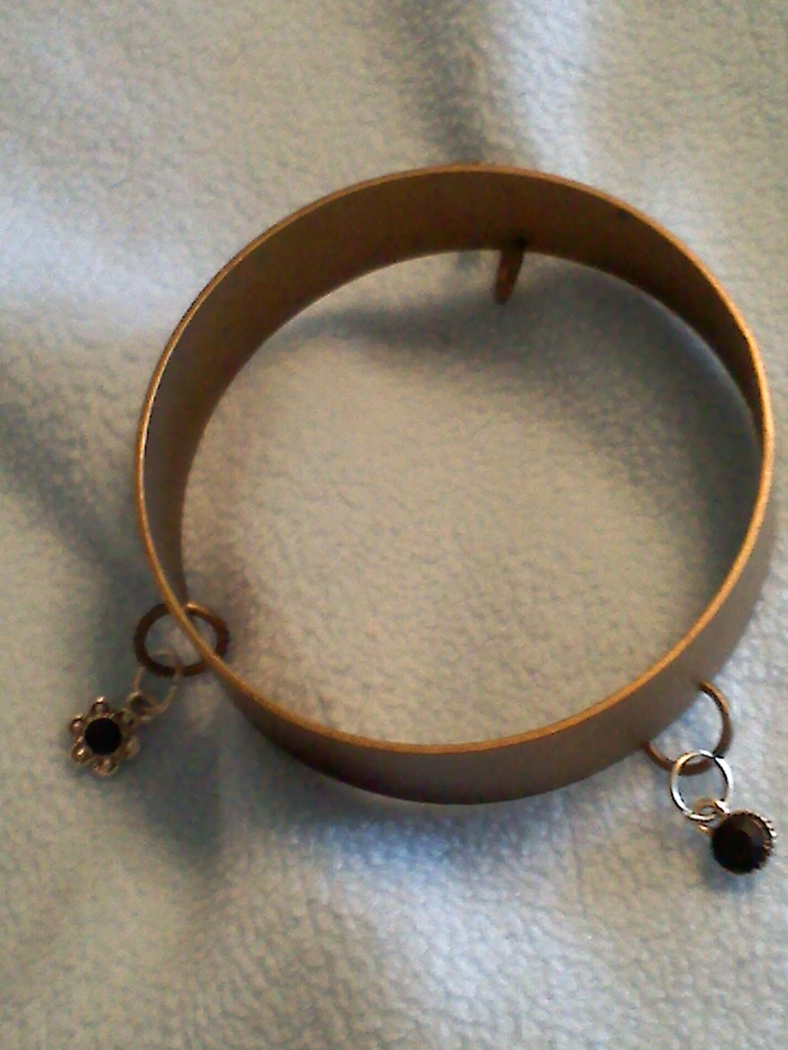 copper bracelet with charms