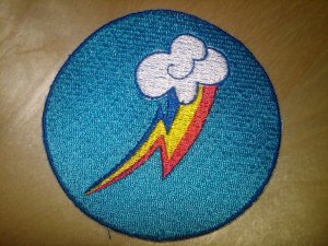 Rainbow Dash Circle Patch