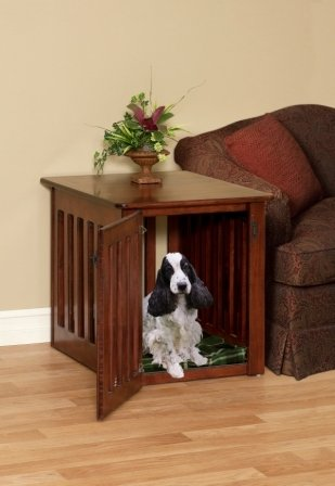 Wood Dog Crate Maple Medium