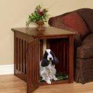 Wood Dog Crate Maple Medium