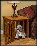 Wood Dog Crate Maple Large