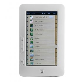 Compact E-Book Reader with Touchscreen + HD Media Player (4GB)