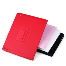 Protective smooth leather case for Ipad 2 - Four color avaialble