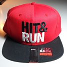 "Nike ""Hit & Run"" Adjustable Snapback Red / Black / White Baseball Hat Cap"