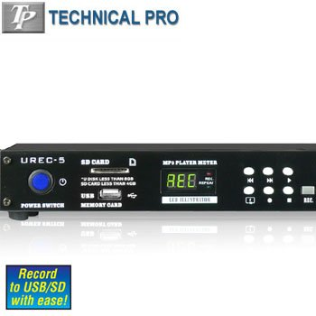 TECHNICAL PRO® DIGITAL MEDIA PLAYER AND RECORDER