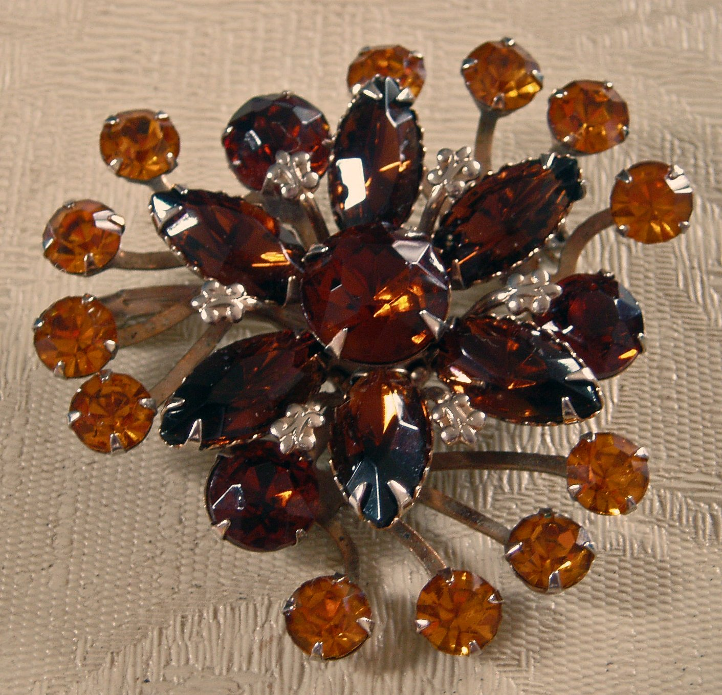 Antique Vintage Amber Brooch