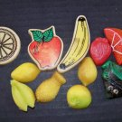 11 Vintage Fridge Refridgerator Magnets Bananas Apple Pear Pineapple