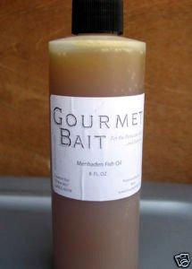 Gourmet Bait Menhaden Fish Oil 8 oz. Carp Catfish Bait