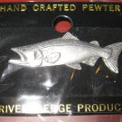 Chinook Salmon Pin Hand Crafted Pewter Hat Tie Pin Rivers Edge