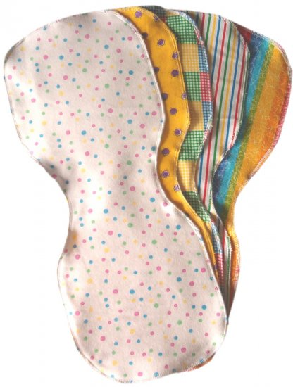 5 *NEW* NEUTRAL flannel baby BURP CLOTHS - SOFT &CUTE!