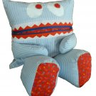 Pajama Eating Pillow Monster, PJ Eater, Blue Stripes/Red Stars