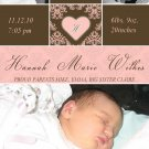 Cute! 10 Printed Baby Birth Announcement Photo Cards Girl Boy - Pink Blue Any Color