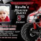 Monster Truck Jam Birthday Party Photo Invitations Children Kids Race Boys