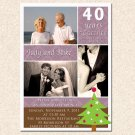 20 Damask Monogram Christmas Anniversary Engagement Photo Party Invitations 4x6