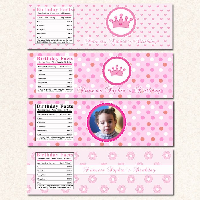 printable pirate fairy princess water bottle labels