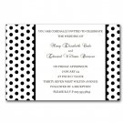 Printable Wedding Engagement Anniversary Invitations Polka Dots Monogram Black White