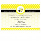 Printable What´s Gonna Bee Gender Reveal Invitations Baby Shower Birthday Polka Dots