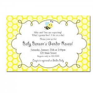 printable what s gonna bee gender reveal invitations baby shower
