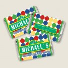 90 Labels Personalized Elmo Sesame Street Mini Candy Wrapper - Birthday Party Baby Shower