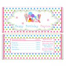 Printable Personalized Candy Candyland sweet shop bar Wrapper - Birthday Party Baby Shower