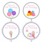 Printable Personalized Candy Candyland sweet shop bar cupcake toppers - Birthday Party Baby Shower