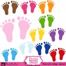 Baby feet clipart clip art digital cardmaking graphics