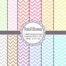 Pastel colors chevron zig zag clipart clip art digital cardmaking graphics