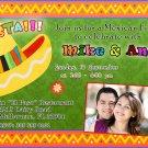 Mexican Fiesta Engagement Party Photo Invitations Sombrero Margarita Birthday Baby Bridal Shower